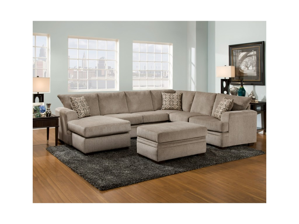 American Furniture 6800Sectional Sofa with Left Side Chaise