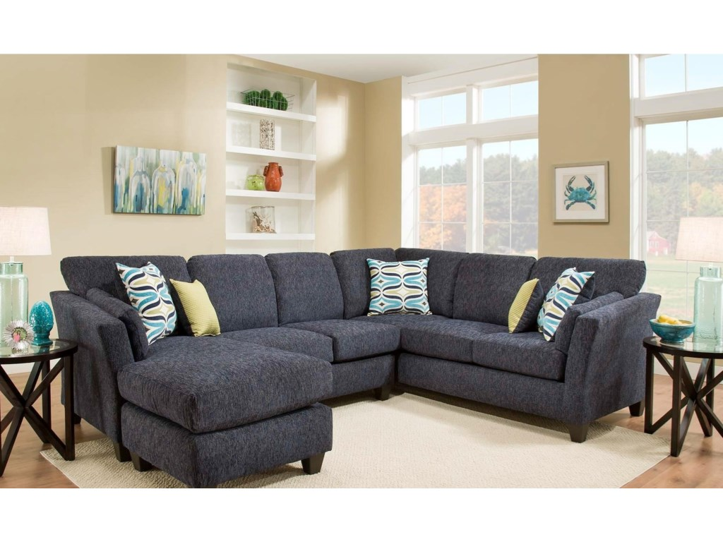American Furniture 7300Sectional Sofa with Chaise