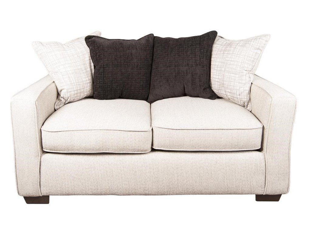 Bannon Modern Loveseat with Accent Pillows by Morris Home Furnishings at  Morris Home