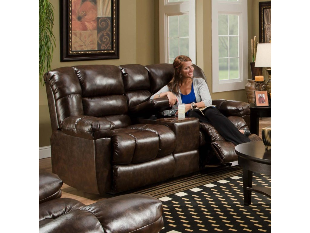 American Furniture AF550 4800Reclining Loveseat w/ Console
