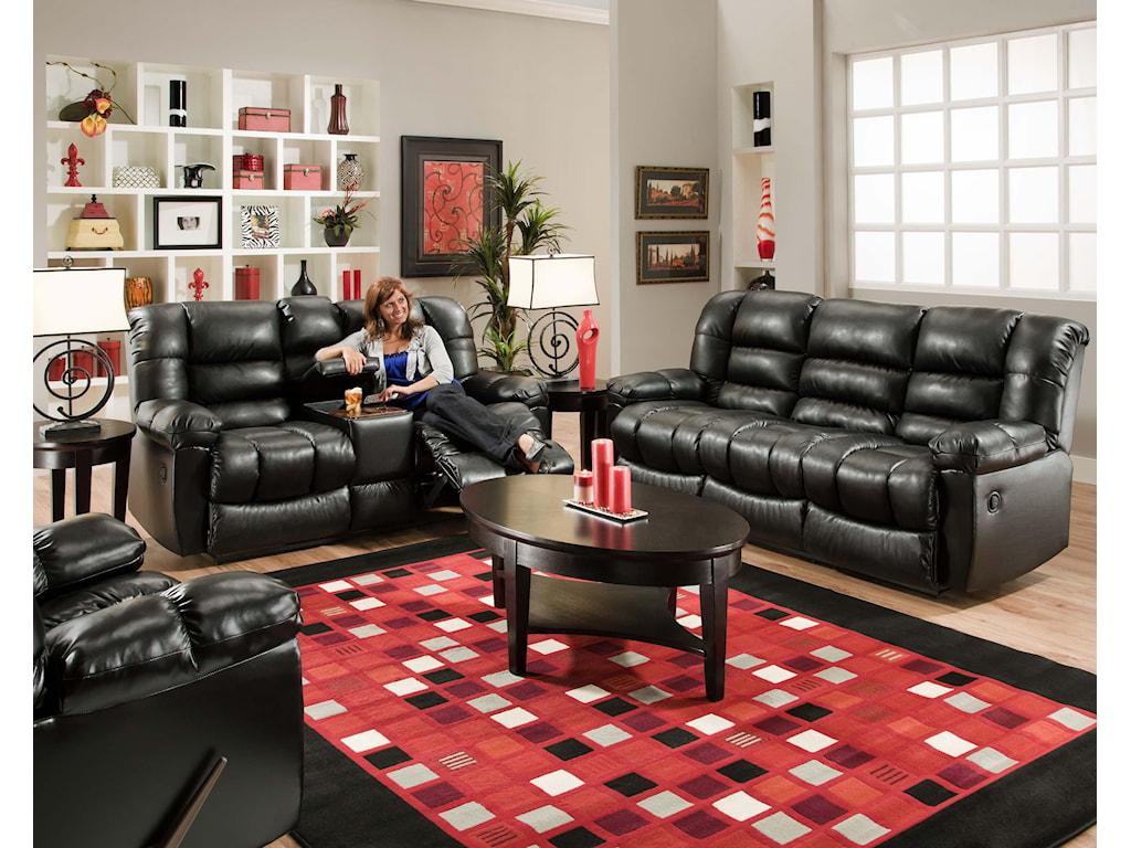 American Furniture AF550 GroupReclining Loveseat w/ Console