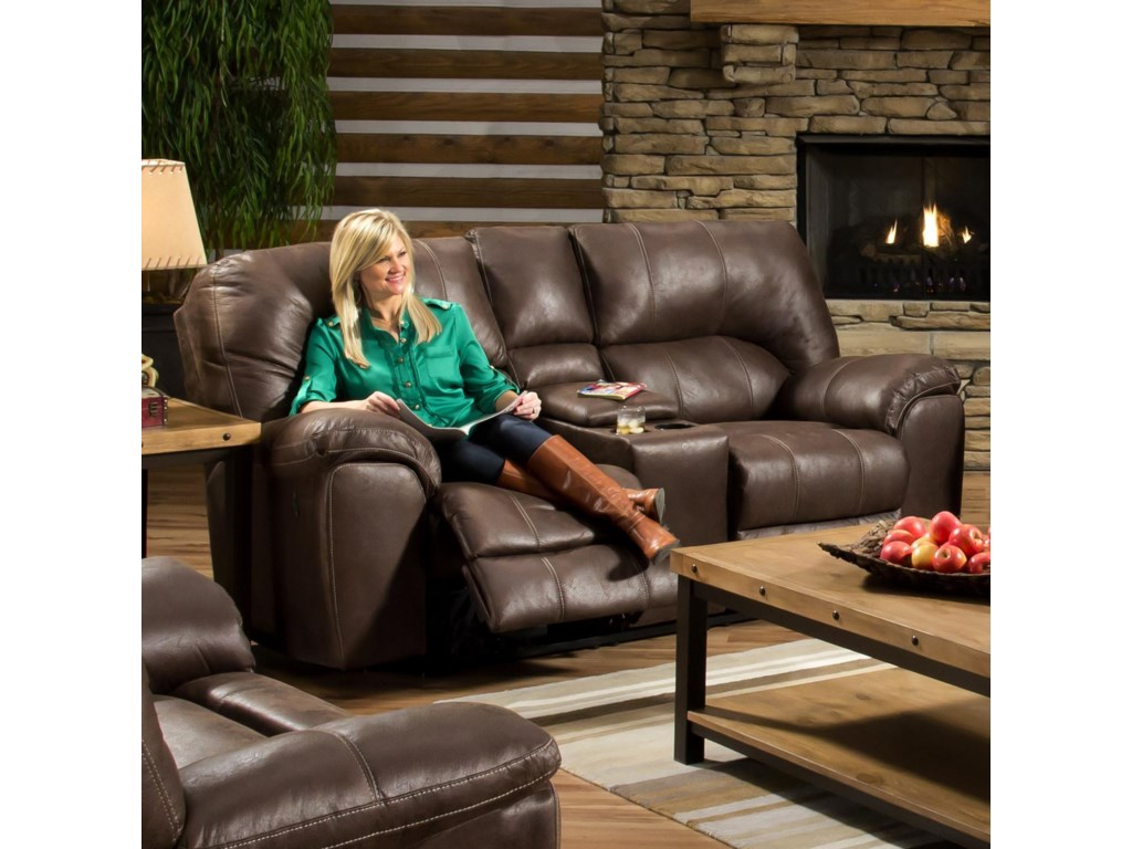 American Furniture Af740 Power Reclining Loveseat With Cup Holders
