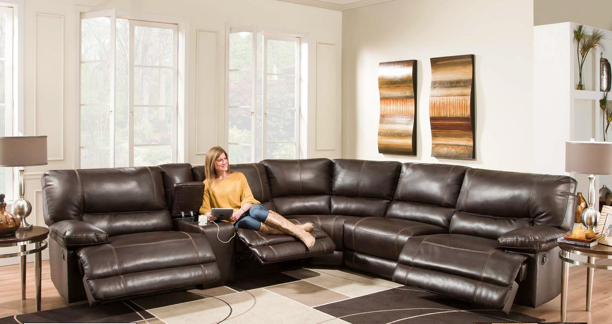 American Furniture AF800 Reclining Sectional Sofa (Seats 5)