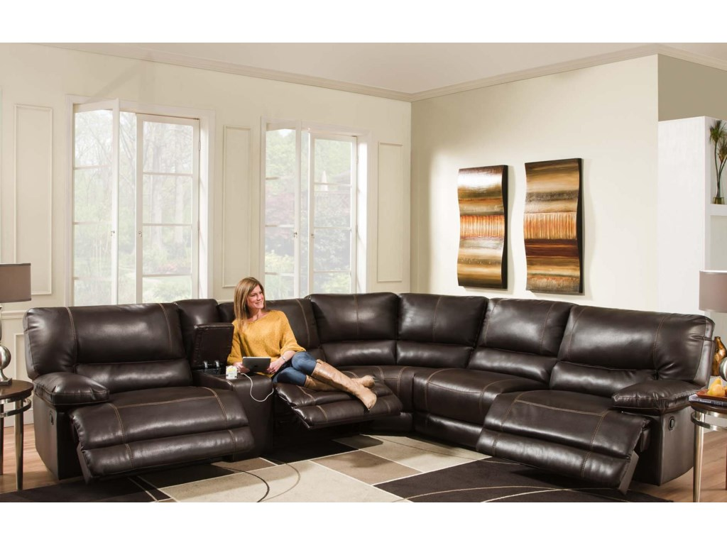 American Furniture AF800 Reclining Sectional Sofa (Seats 5 ...