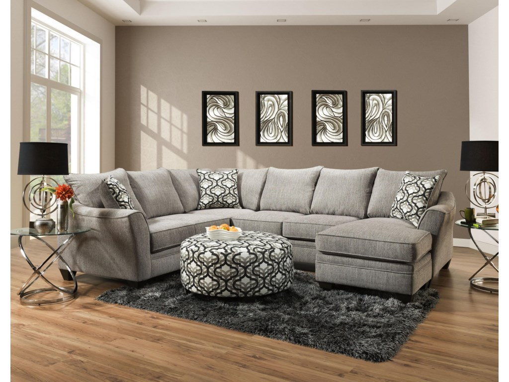Belford Sectional Sofa by American Furniture at Morris Home