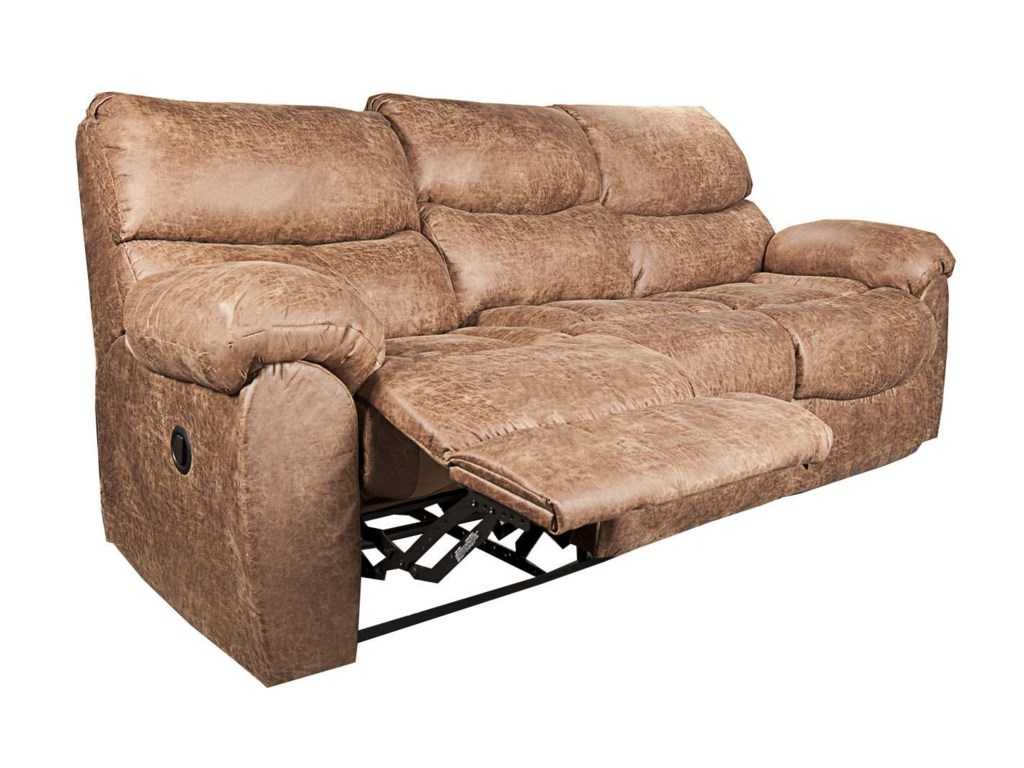 Morris Home Furnishings DakotaDakota Recling Sofa with Drop Down Table