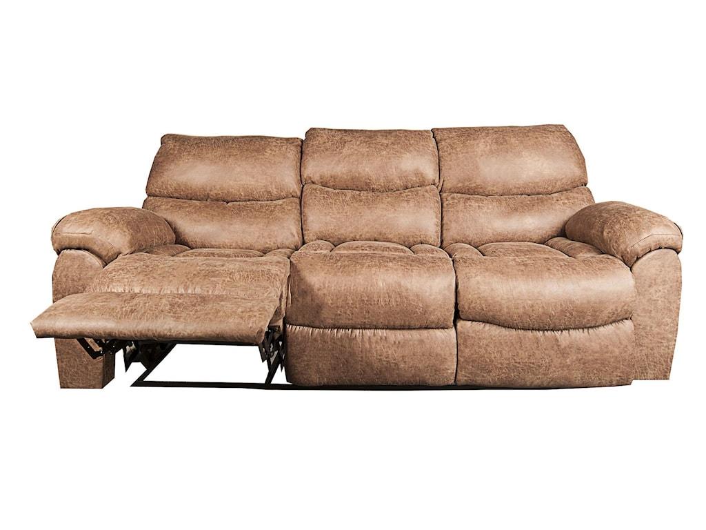 Morris Home Furnishings DakotaDakota Recling Sofa with Drop Down Table