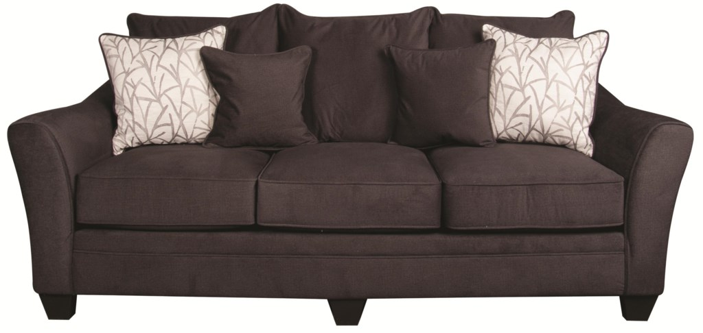 Rachel Casual Sofa With Decorative Accent Pillows Morris Home Sofas