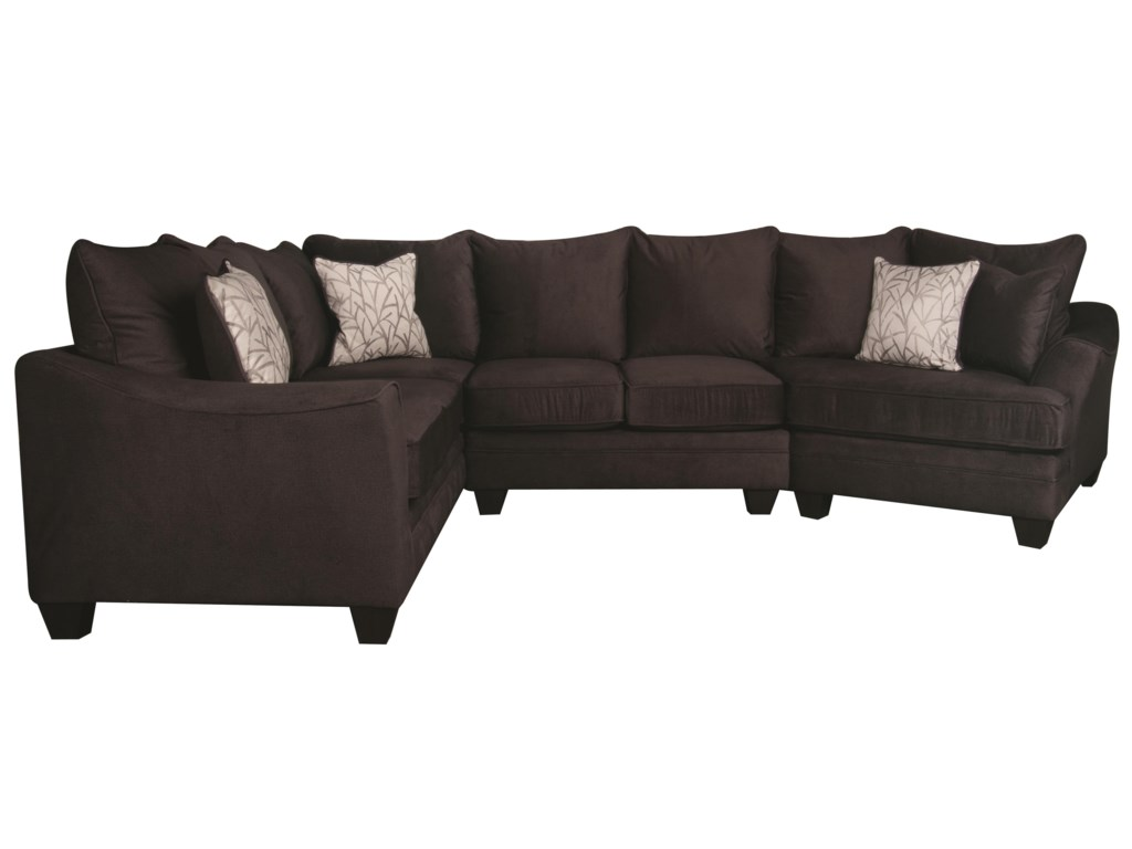 Morris Home Furnishings RachelRachel Modern Sectional Sofa
