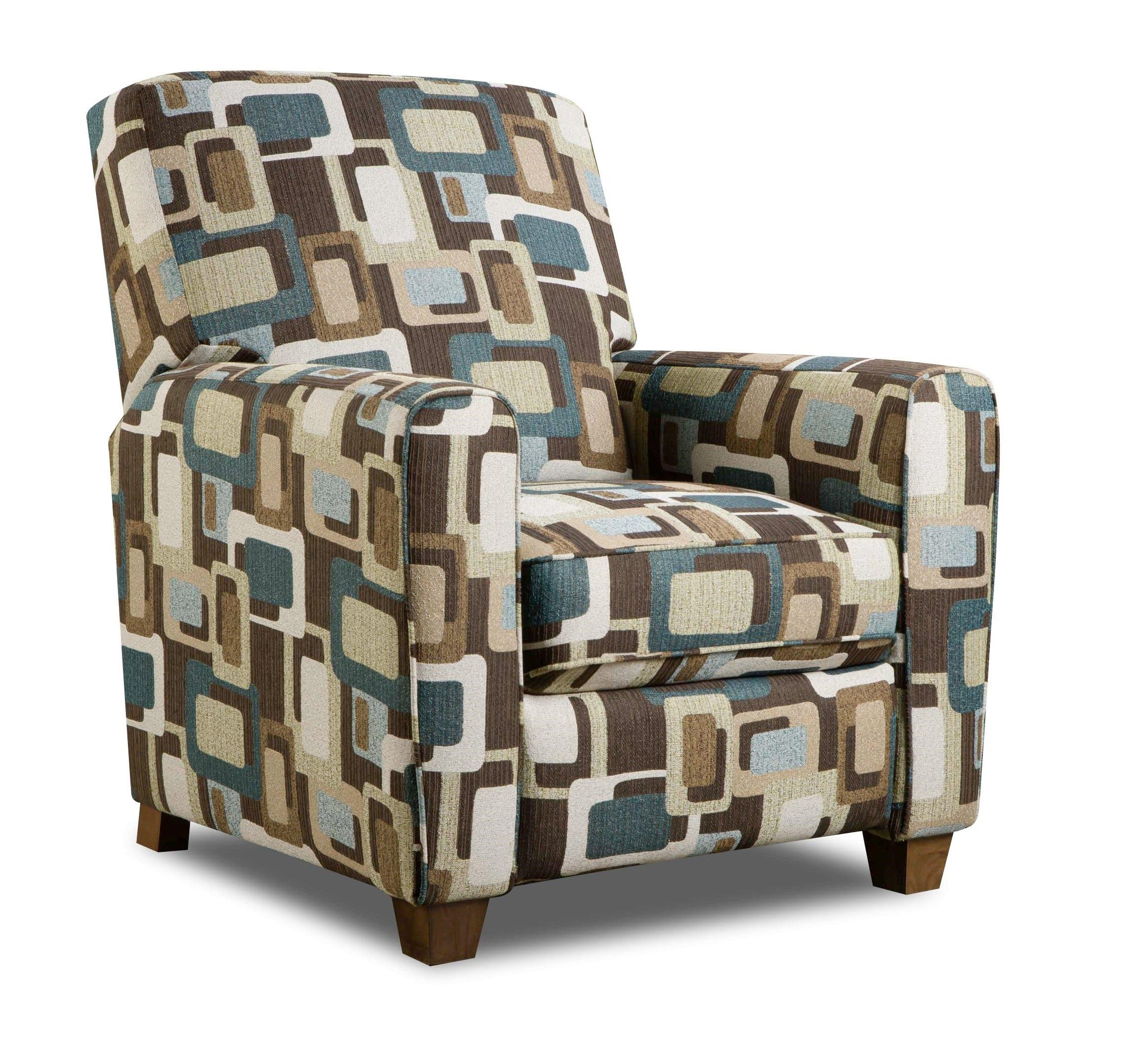 American Furniture Recliners Low Leg Retro Accent Recliner