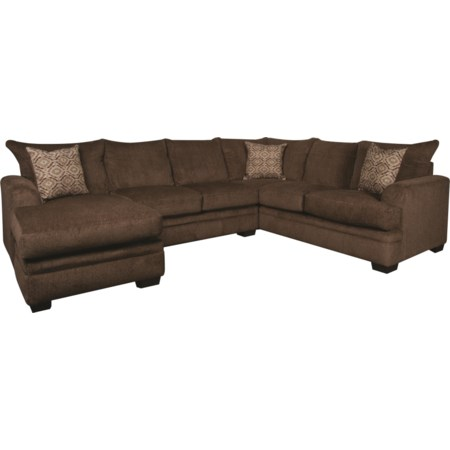 Walter Sectional with Accent Pillows