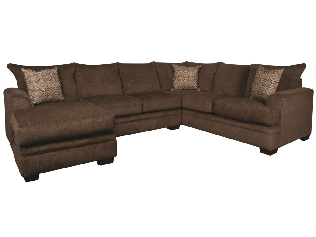 Walter Contemporary Sectional Sofa with Accent Pillows | Morris Home ...
