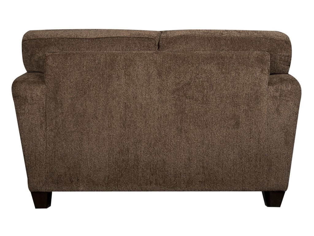 Wilson Contemporary Loveseat With Accent Pillows Morris Home