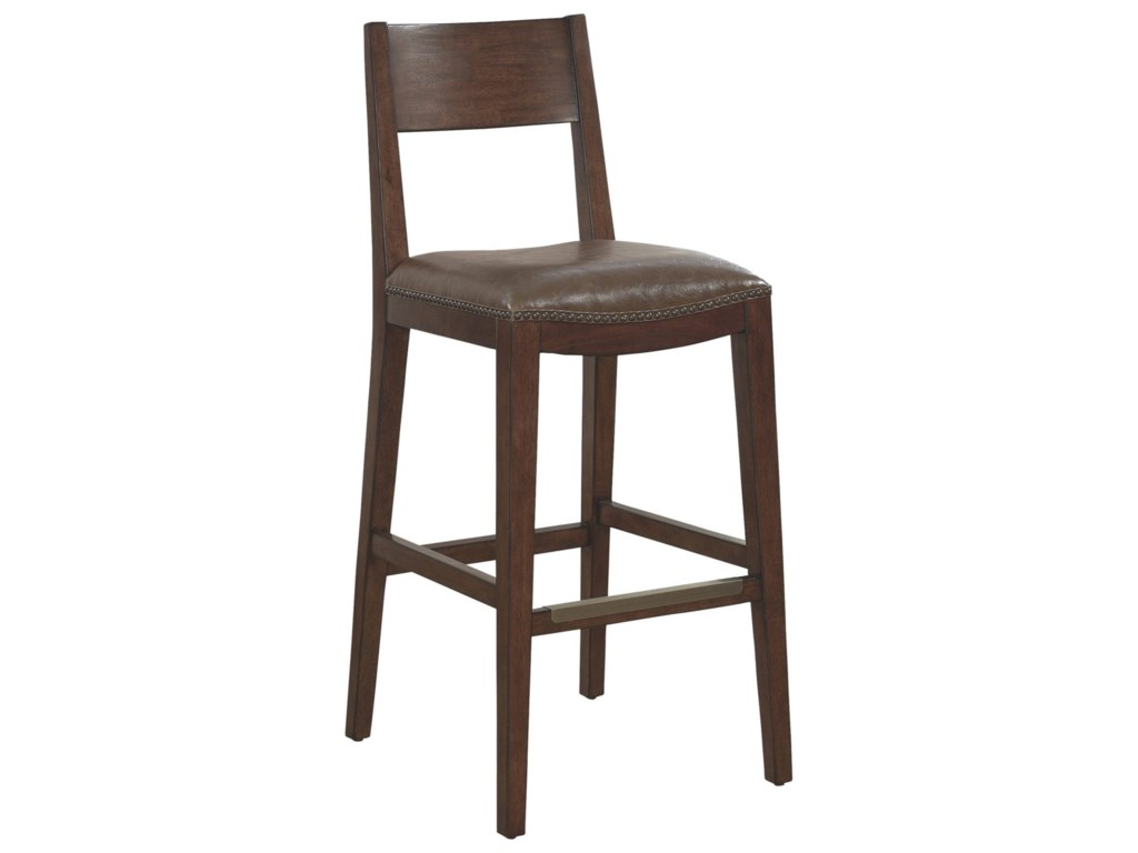 American Heritage Billiards Bar Stools 130175 Ralston Stool With Upholstered Seat Becker Furniture World