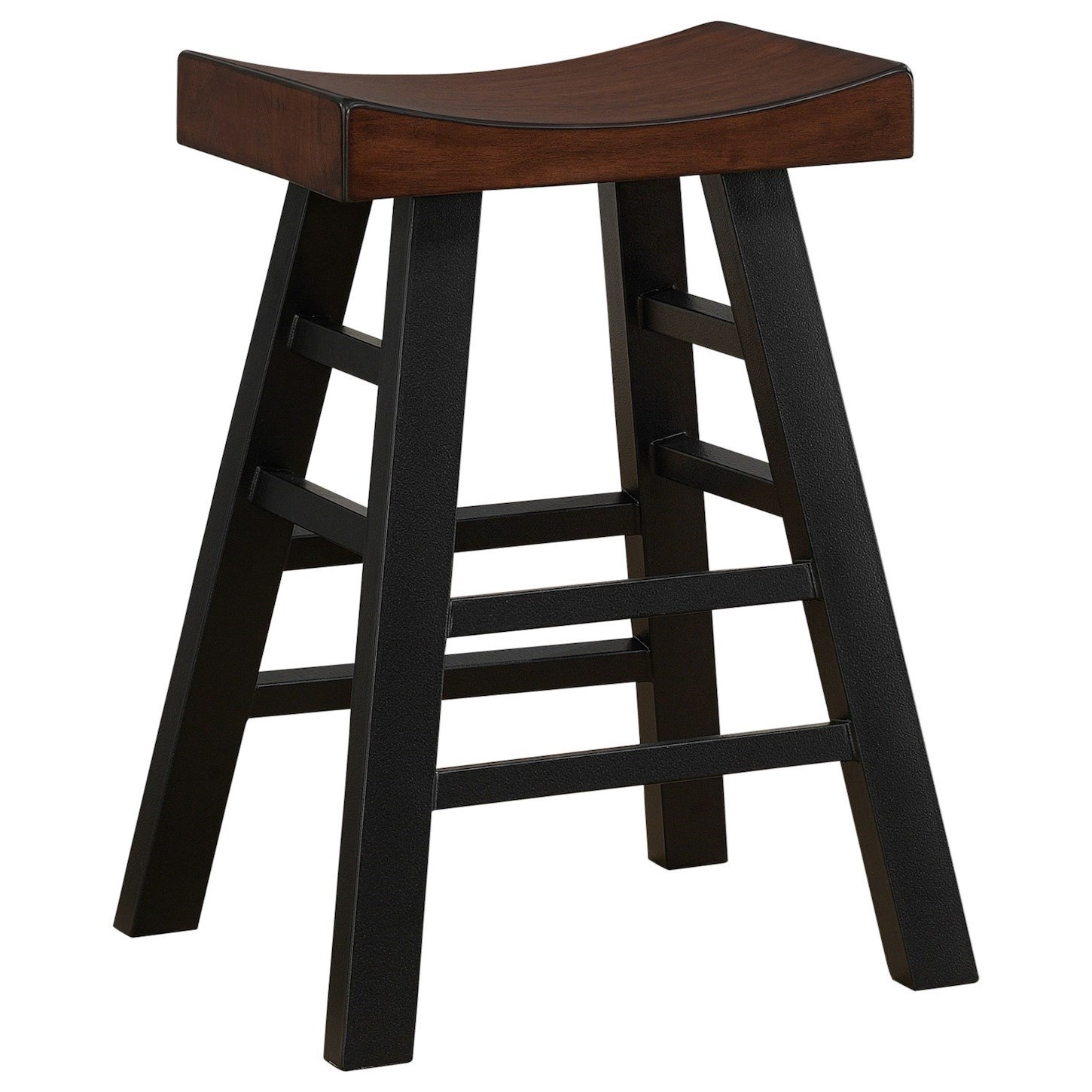 American Heritage Billiards Cheyenne Backless Two Tone Rustic Bar Stool