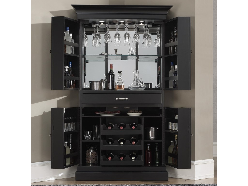 American Heritage Billiards Francesca Corner Bar Armoire