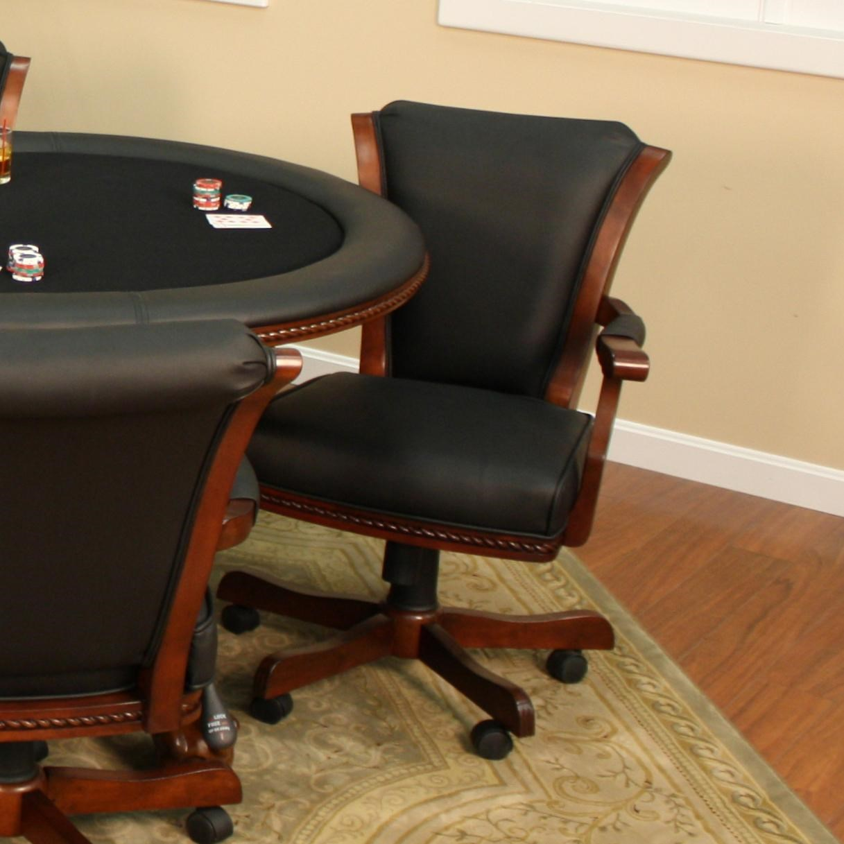 American Heritage Billiards High Stakes Casino Game Chair With Casters
