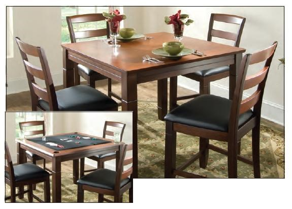 American Heritage Billiards MelroseGame Table With Slat Back Chairs