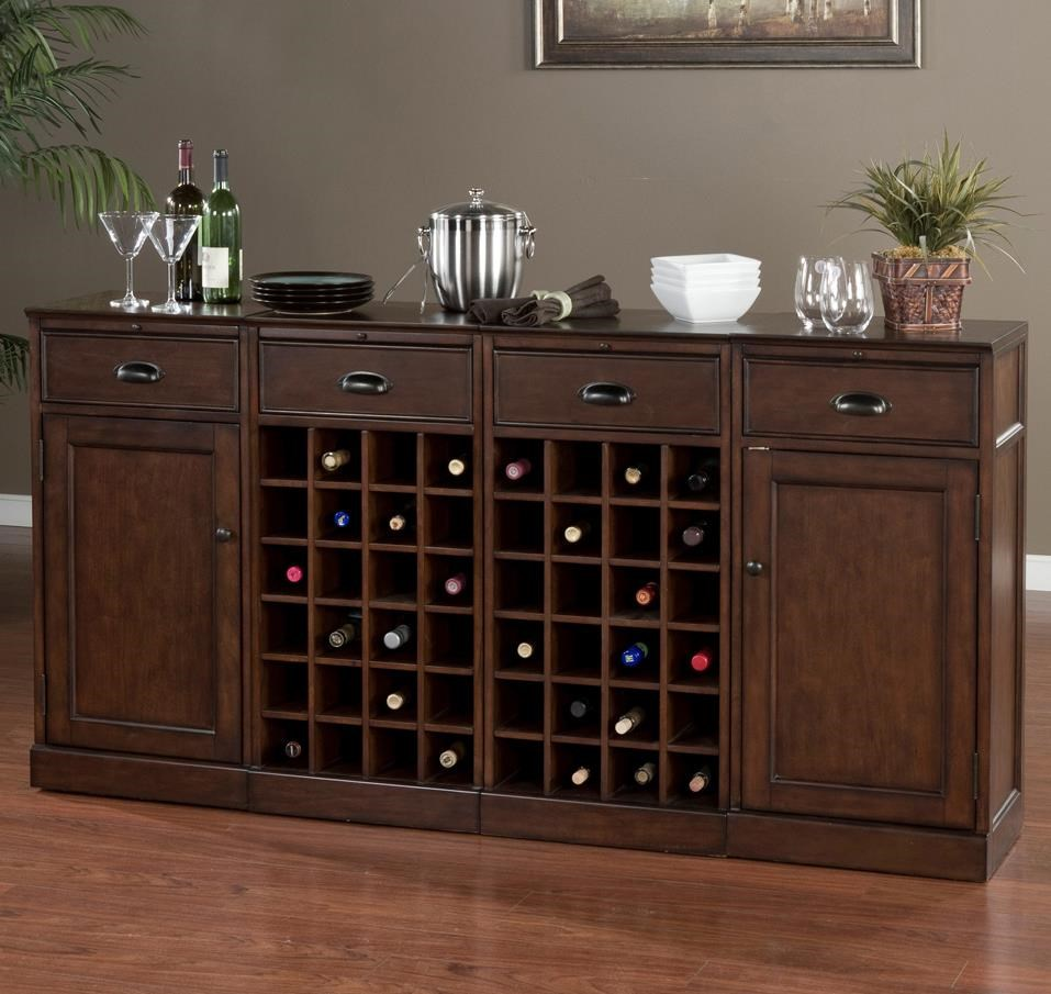 American Heritage Billiards Natalia4 Piece Modular Bar With 2 Wine Units ...