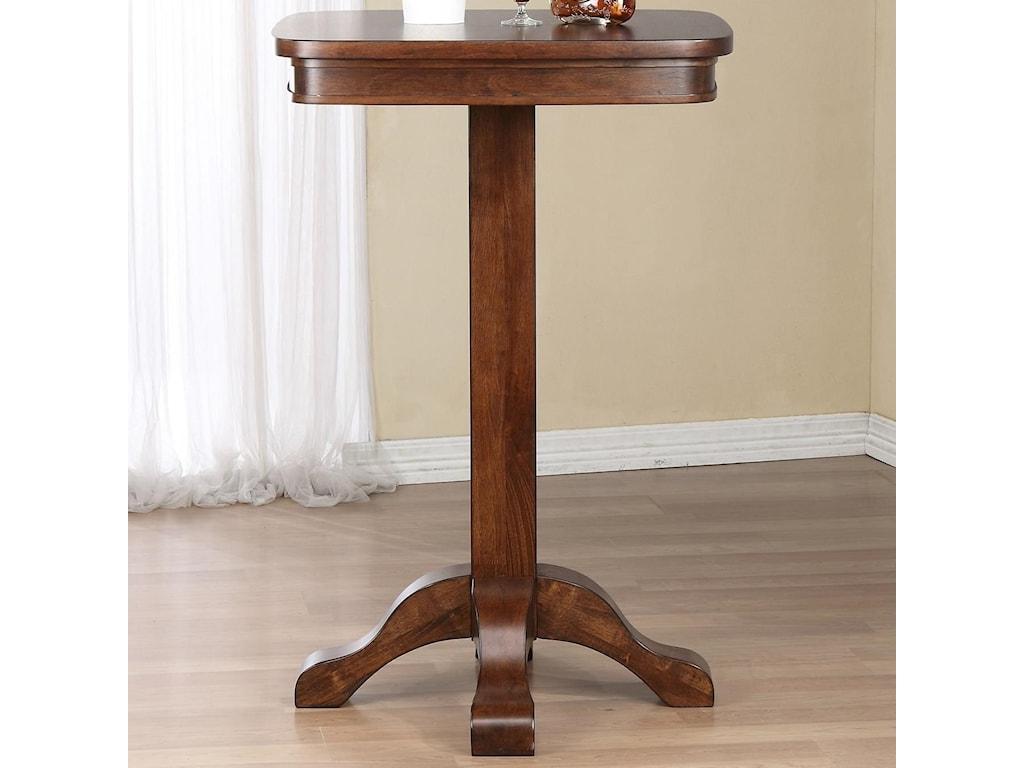 American Heritage Billiards Sarsetta Single Pedestal Pub Table With - Square pedestal pub table