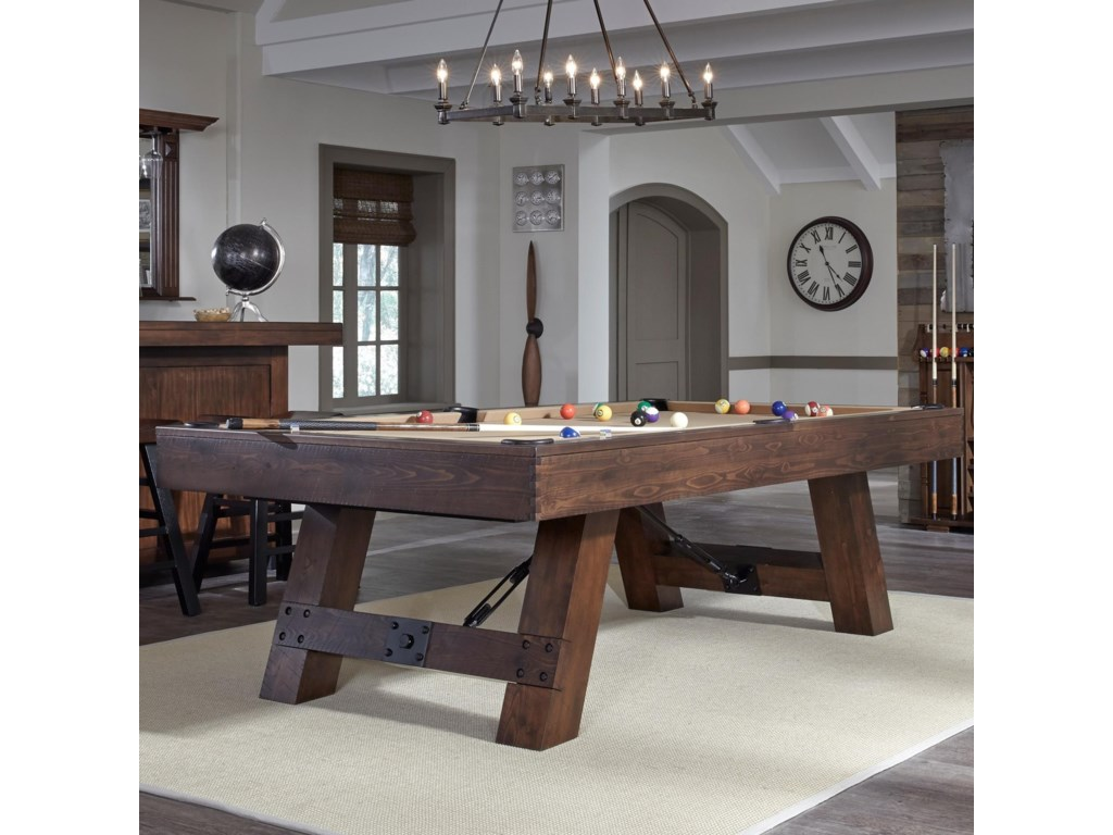 American Heritage Billiards Savannah Rustic Billiard Table With - American heritage billiards pool table