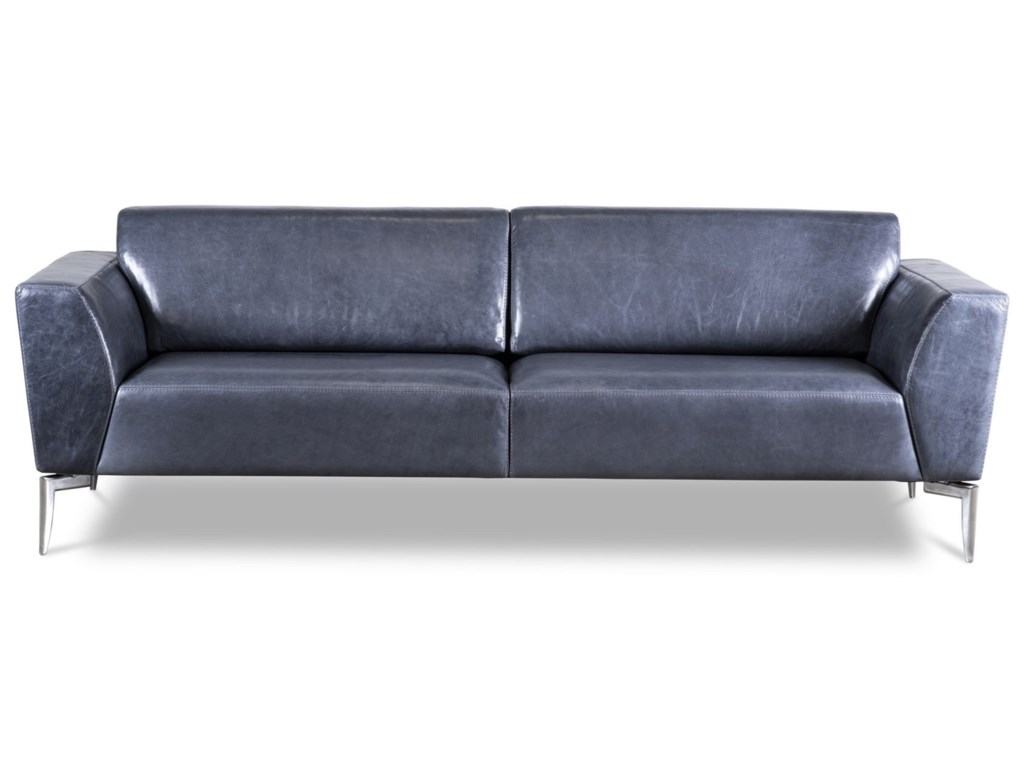 American Leather Adriana Contemporary Two Seat Sofa With