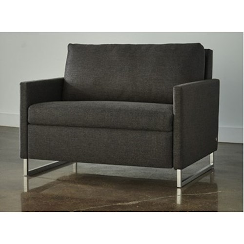 American Leather Breckin Twin Sleeper Sofa with Track Arms | Sprintz ...