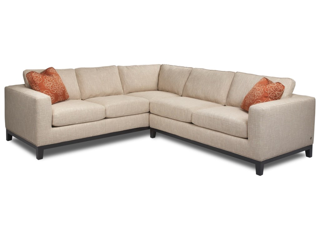 American Leather Brooke Contemporary L-Shaped Sectional ...
