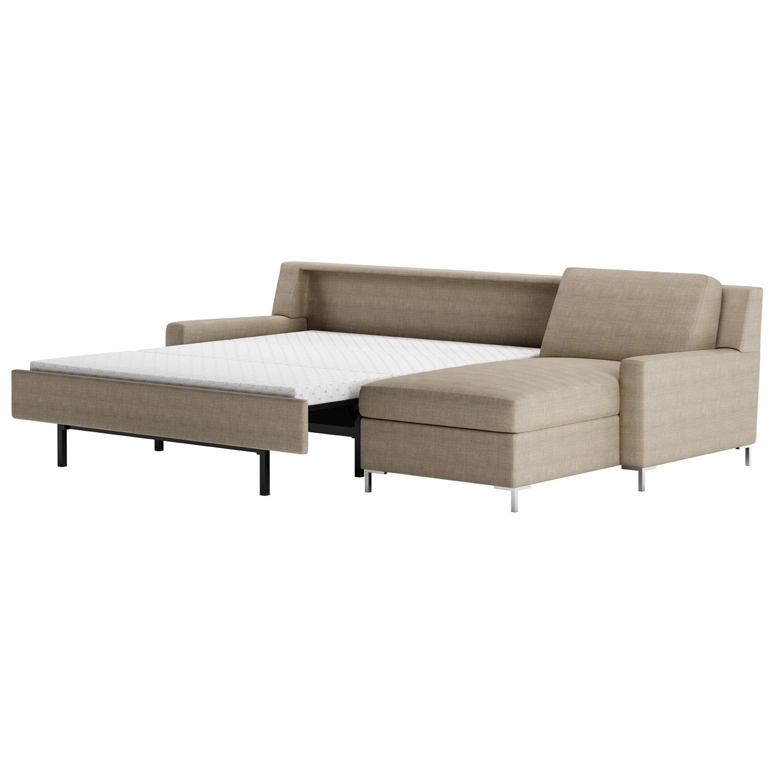 American Leather Bryson2 Pc Sectional Sofa W/ Sleeper U0026 LAS Chaise