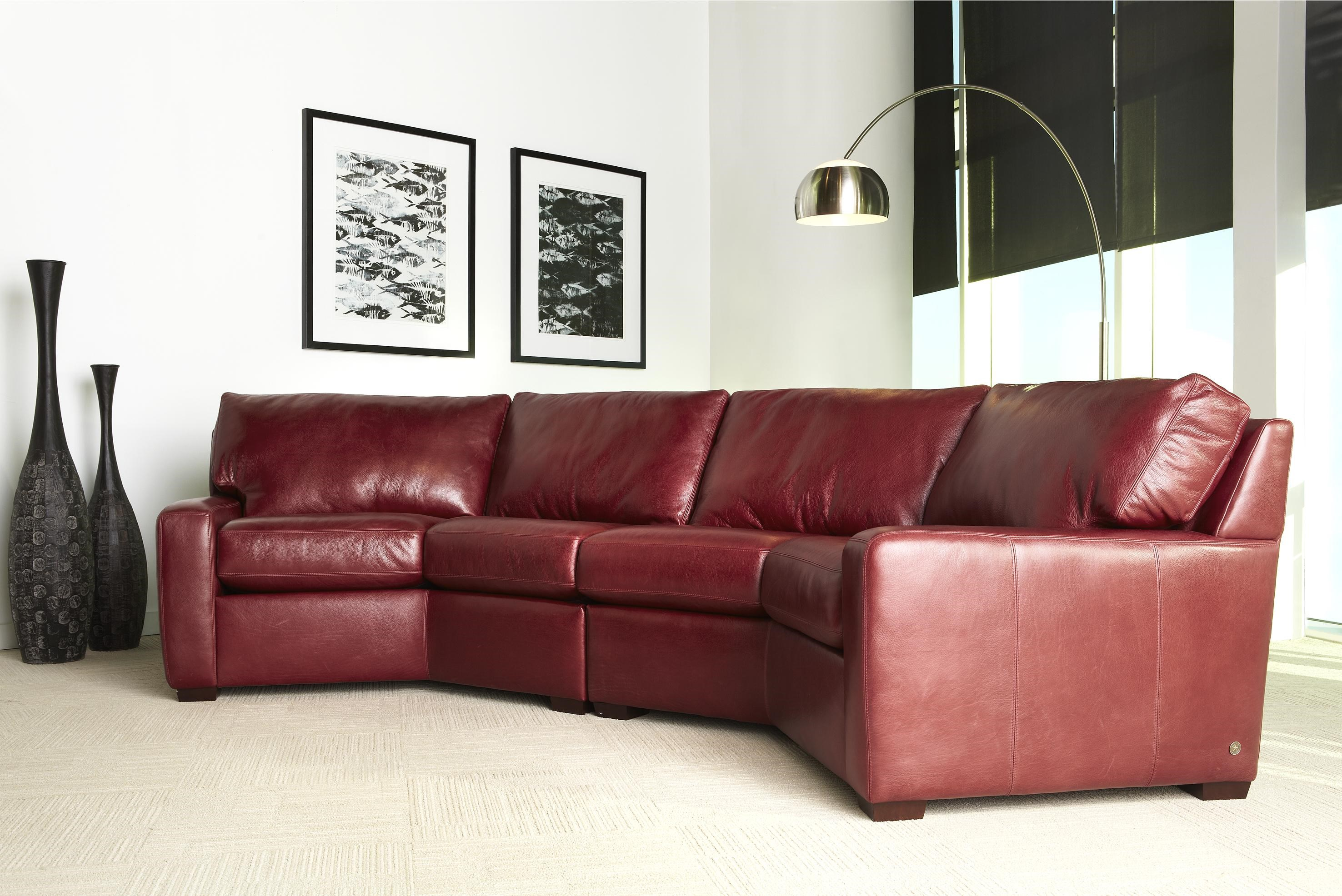 American Leather Carson Contemporary Leather Sectional