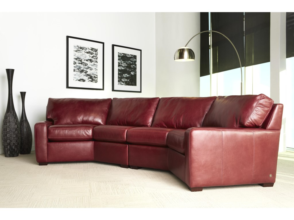 American Leather Carson Contemporary Leather Sectional ...