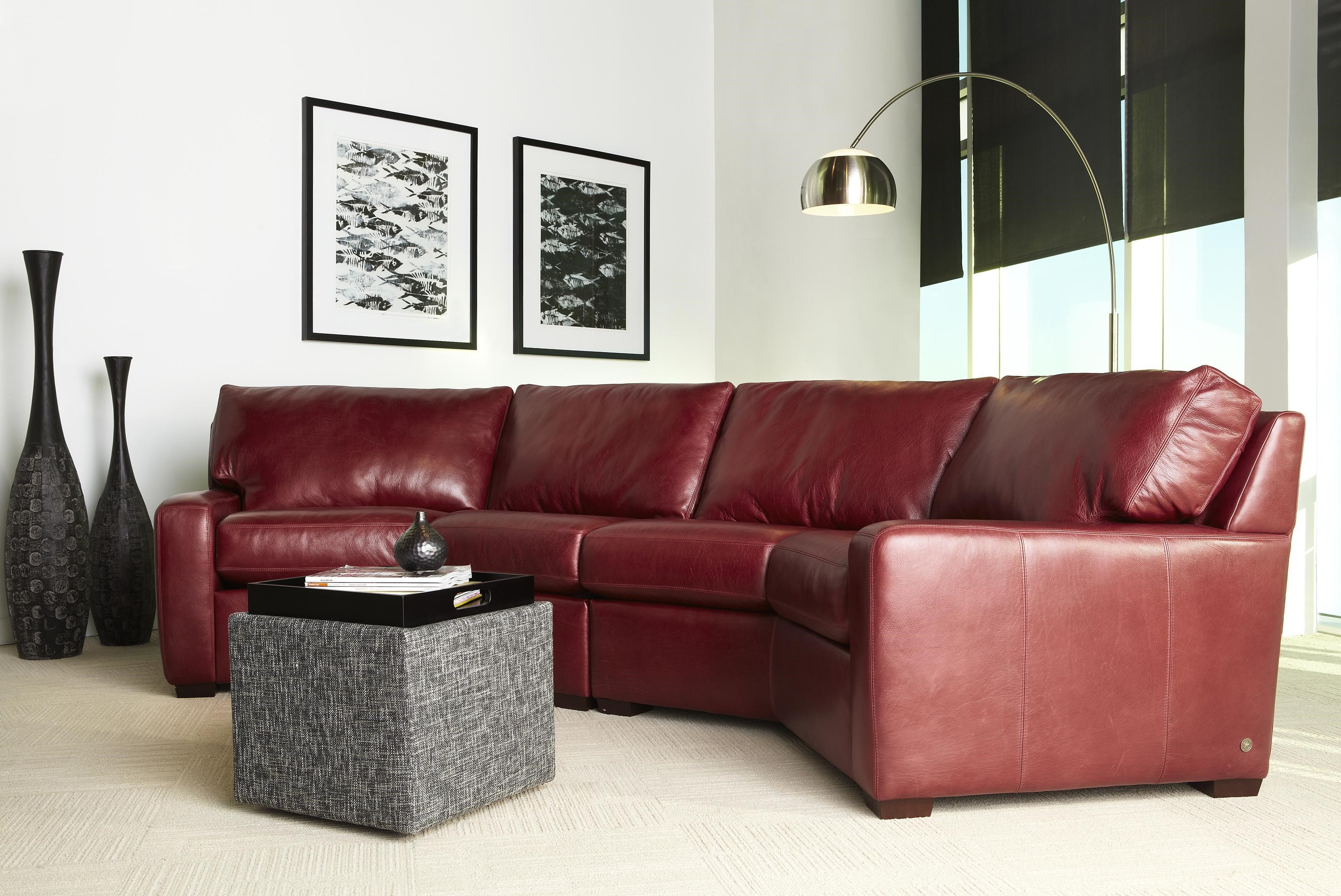 American Leather Carson Leather Sectional Becker Furniture World Sectional  Sofas