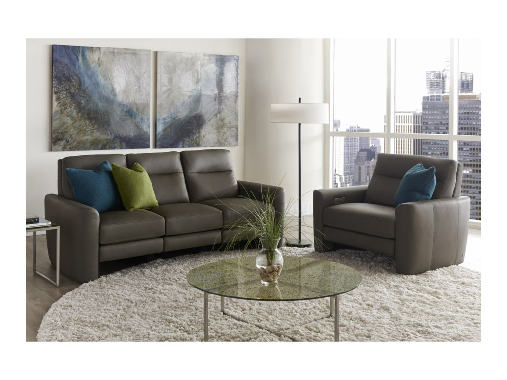 American Leather Chelsea - Style in MotionPower Reclining Chair and a Half