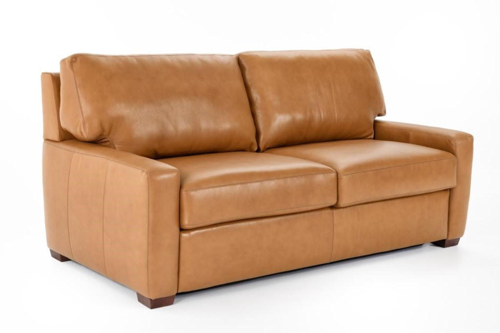 American Leather Comfort Sleeper Cassidy Cas S02 Qs Track Arm  ~ Queen Sofa Sleeper Leather