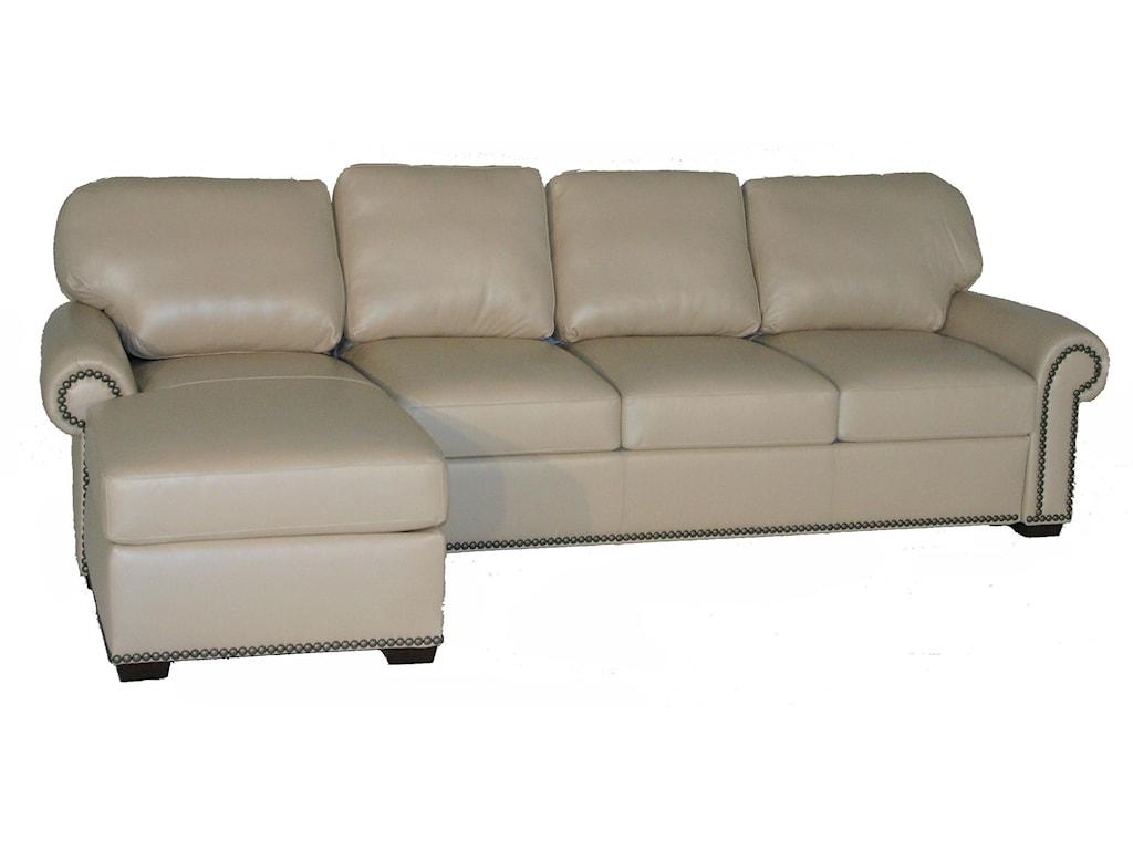 American Leather Comfort Sleeper - MakaylaTraditional 2 Piece Sectional