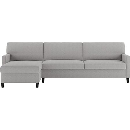 2 Pc Sectional Sofa w/ Sleeper & RAS Chaise