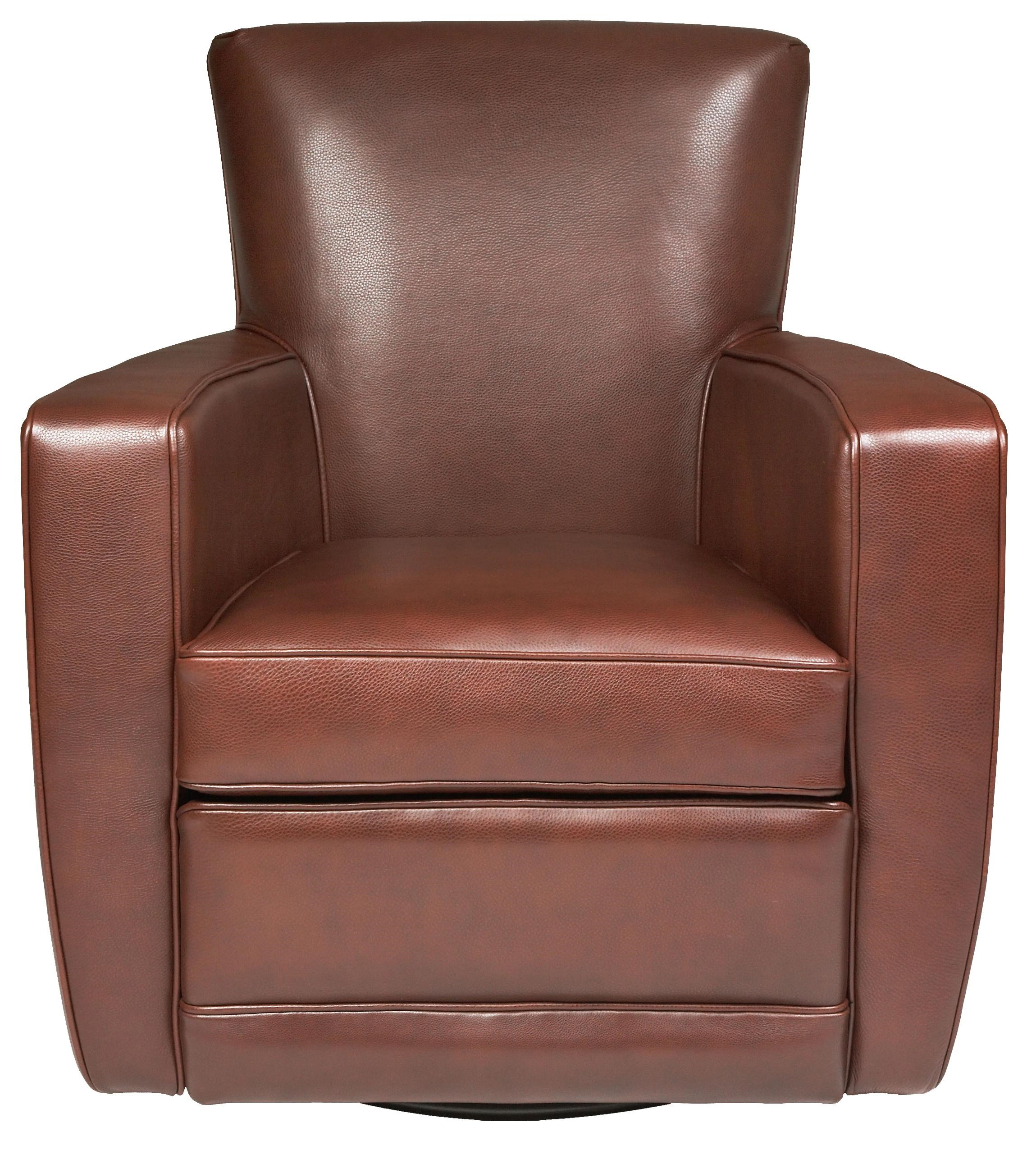 American Leather Ethan Contemporary Swivel Chair ...