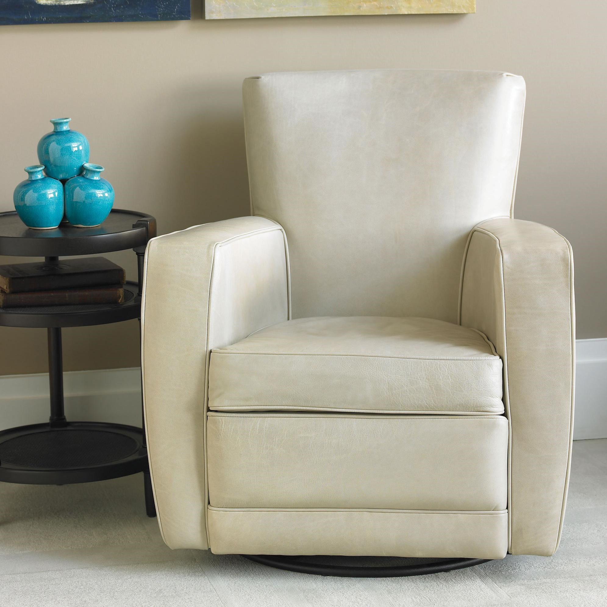 Superbe ... American Leather Ethan Contemporary Swivel Chair