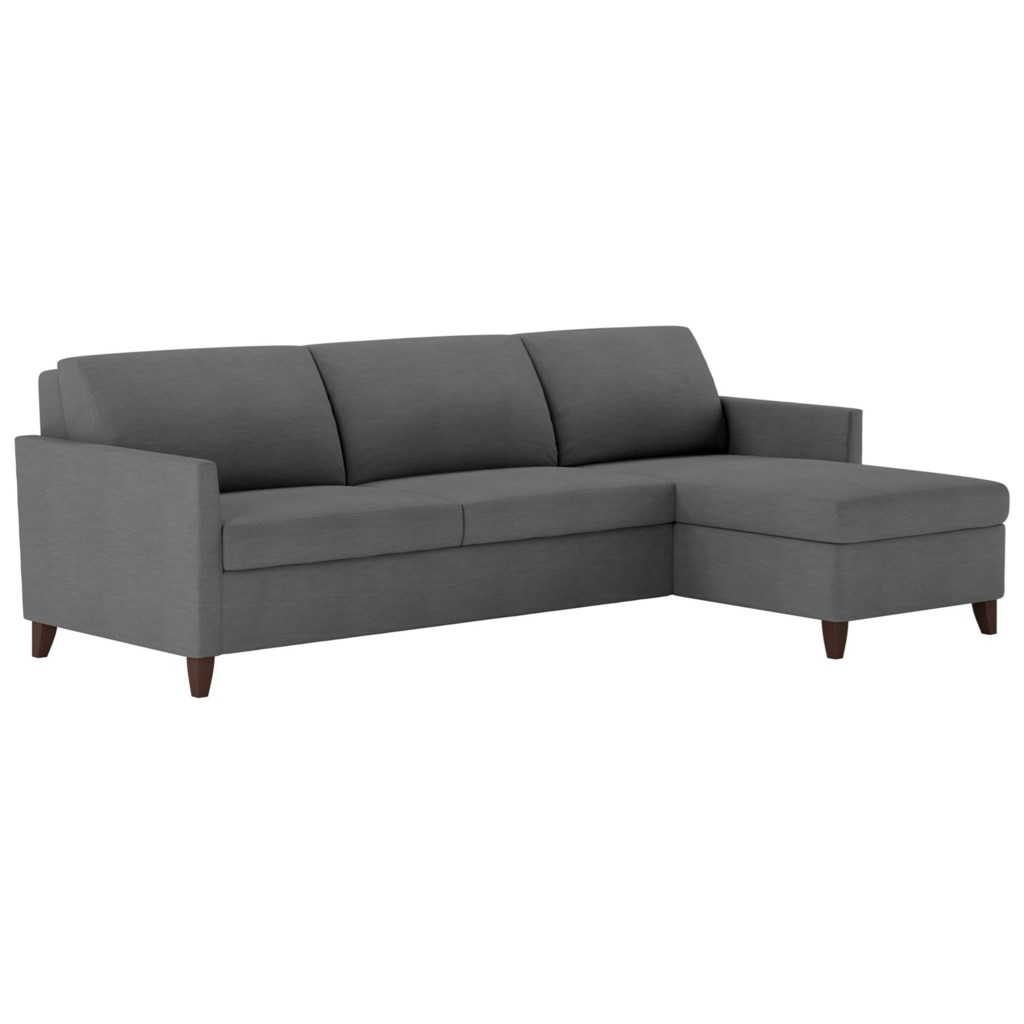 American Leather Harris Two Piece Sectional Sofa With Full Sleeper