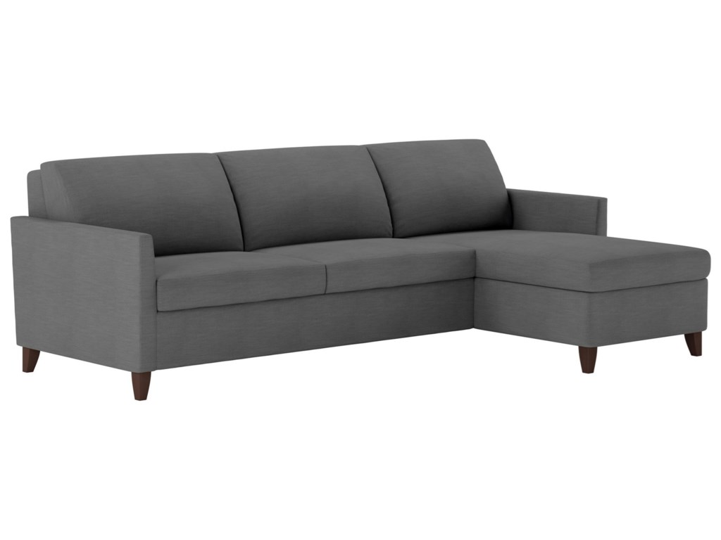 American Leather Harris2 Pc Sectional Sofa W Full Sleeper Chaise