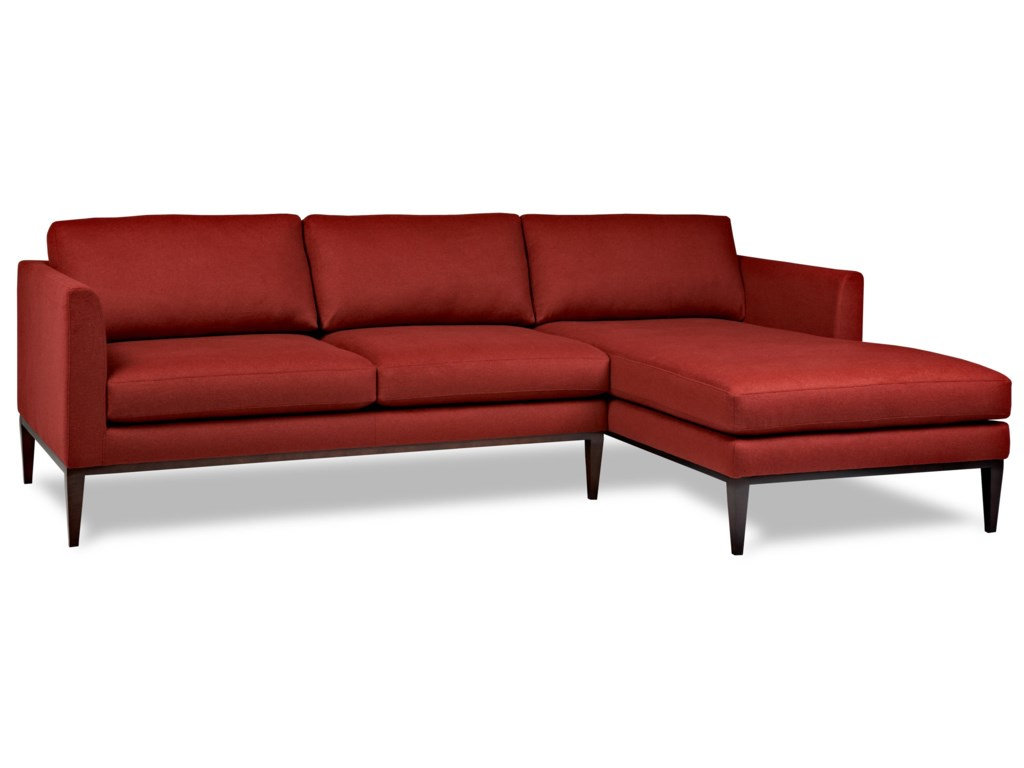 American Leather Henley Contemporary Sectional with Left Arm Chaise ...