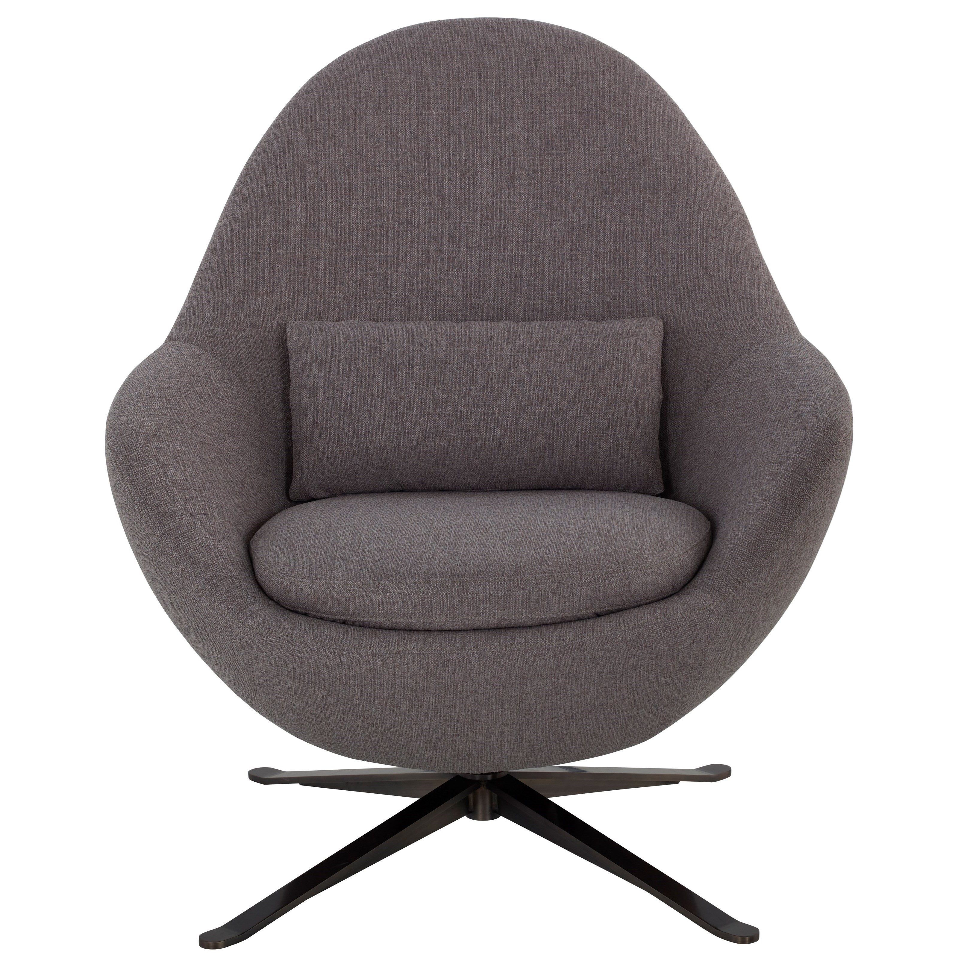 American Leather Jude Contemporary Round Swivel Chair