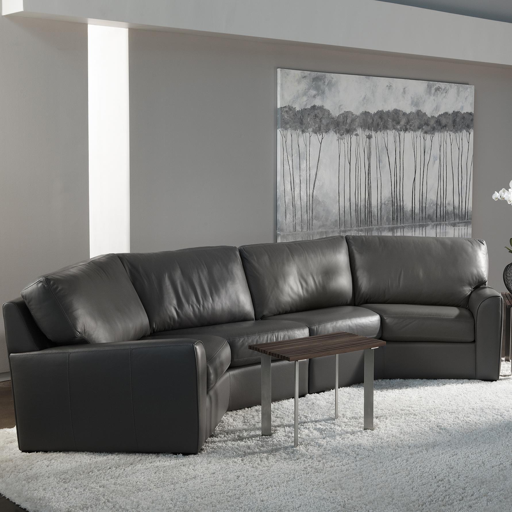 american leather kaden casual wedge sectional sofa sprintz rh sprintz com Small Corner Sectional Sofas curved wedge sectional sofa