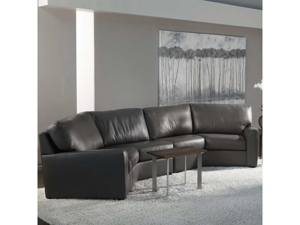 American Leather Kaden Casual Wedge Sectional Sofa | Williams & Kay ...