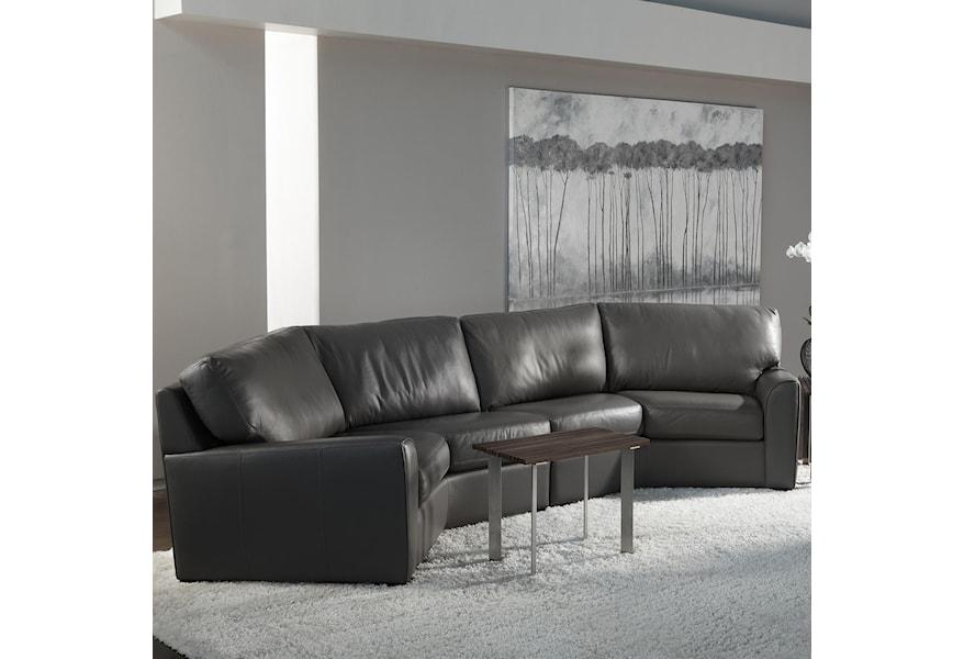 American Leather Kaden Casual Wedge Sectional Sofa | Sprintz ...