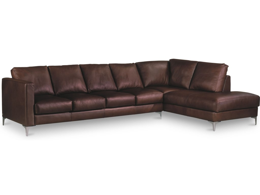 American Leather Kendall5-Seat Sectional w/ Left Arm Sitting Chaise