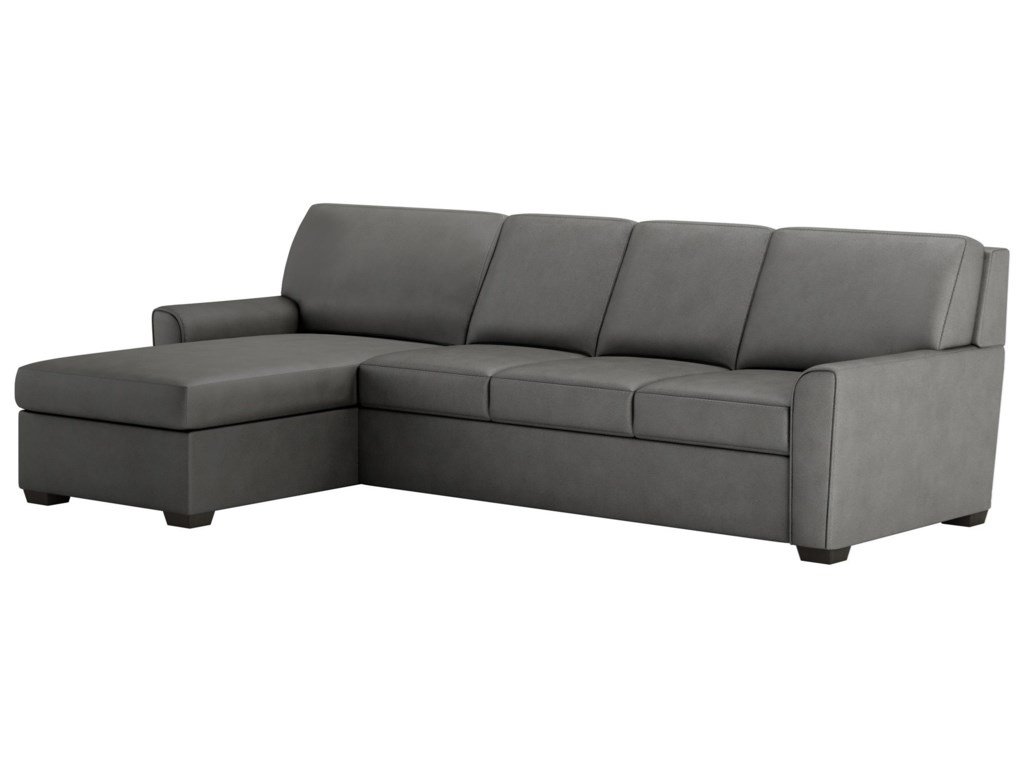 American Leather Klein Two Piece Sectional Sofa W King Sleeper And