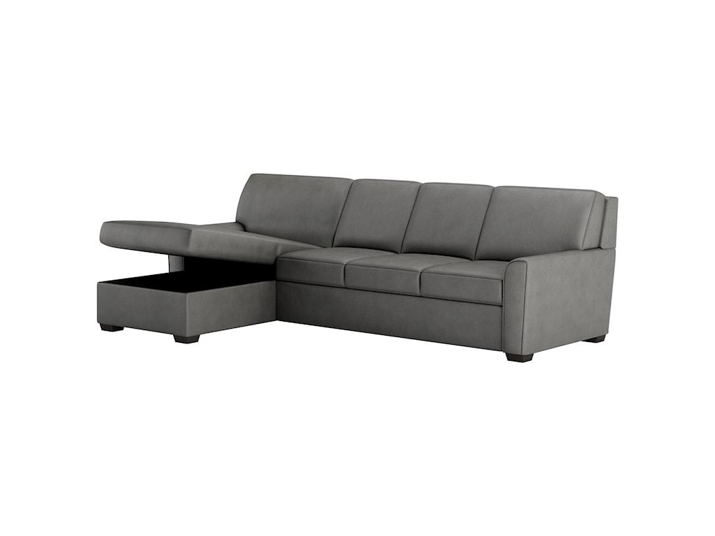 American Leather Klein2 Pc Sect Sofa w/ King Sleeper & Storage