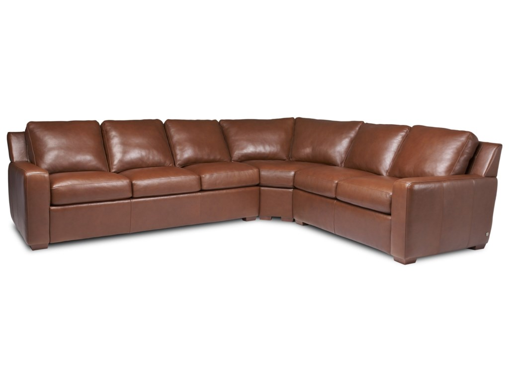 American Leather Lisben Contemporary L-Shaped Sectional ...