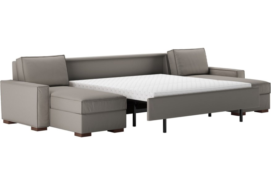 Piece Sectional Sofa W King Sleeper